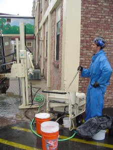 Grouting using Geoprobe Injection Pump